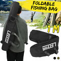 100CM Folding Fishing Bag Rod Reel Pole Gear Tackle Storage Case Tool Black US