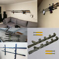 2 Set Horizontal Wall Fishing Rod Rack for Fishing Rod Storage Holds up to 5 Rod