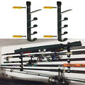 1Set Horizontal Wall Fishing Rod Rack for Fishing Rod Storage Holds up to 5 Rods