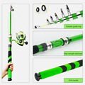 Portable Ultralight Fishing Rod Carbon Fiber Telescopic Sea Spinning Rod Pole