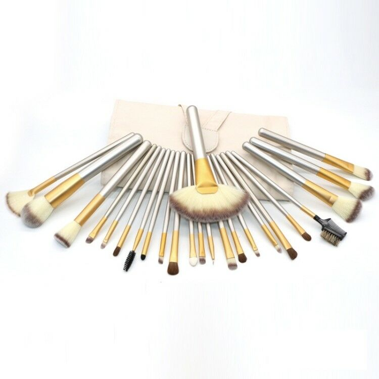 Pennelli professionali trucco set 24 pz make up makeup brushes donna cos 12 