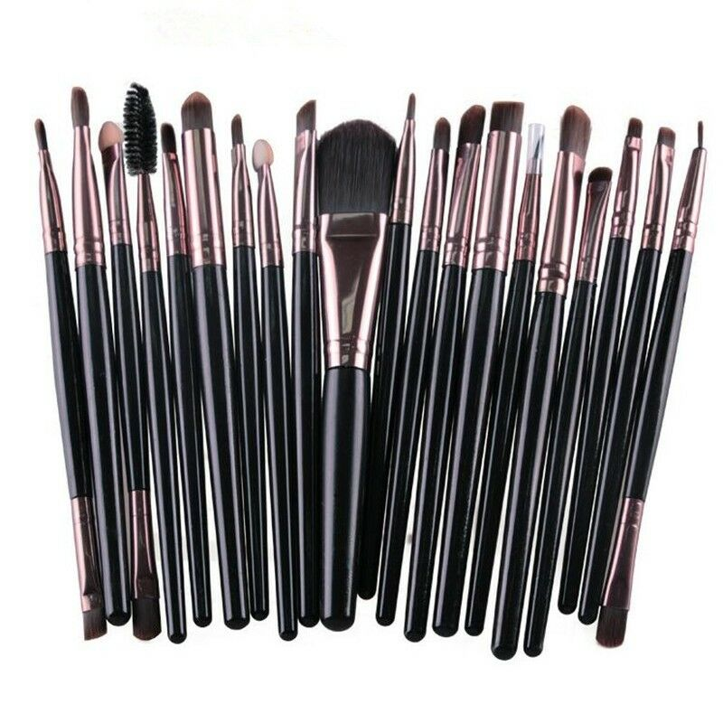 Pennelli professionali trucco set 20 pz make up makeup brushes donna cos 15 