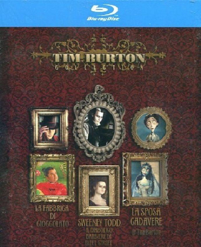 Tim burton collection cofanetto 3 film blu ray nuovo sigillato dv60 