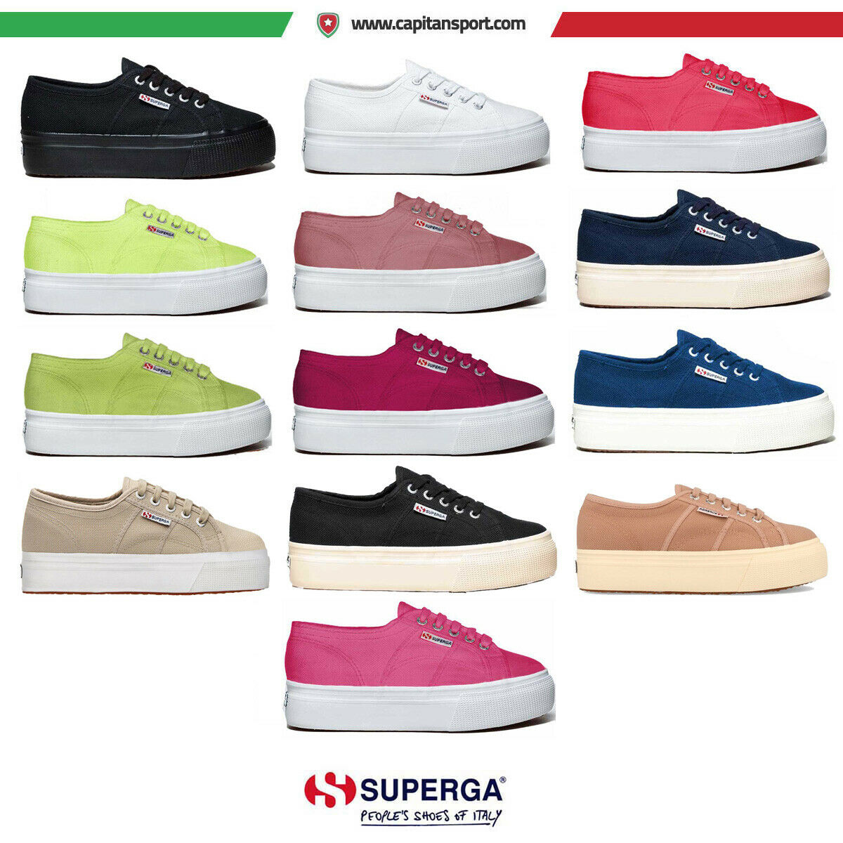 Superga 2790a cotu platform up and down scarpe casual art s0001l0 