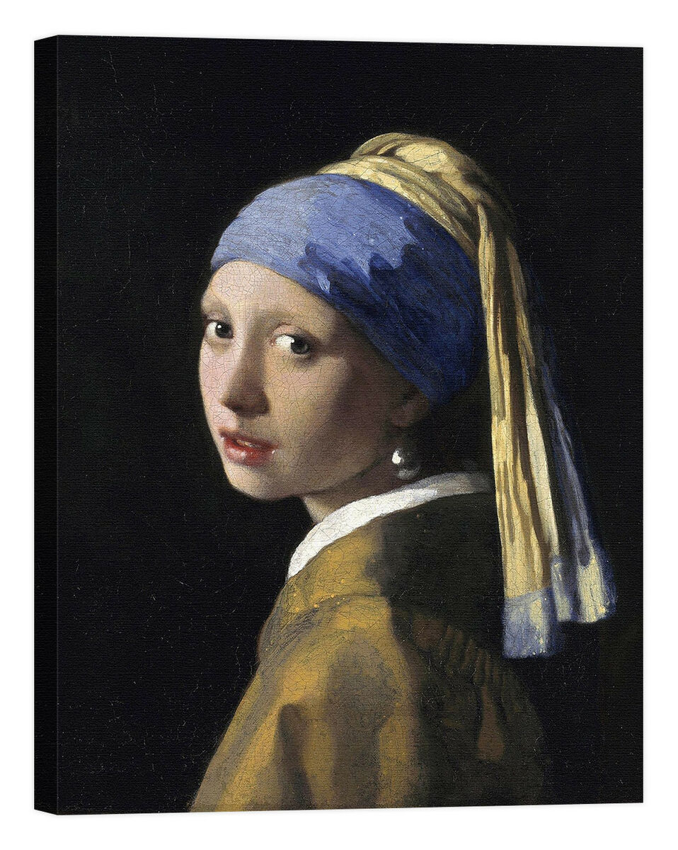 Jan vermeer girl with a pearl earring stampa su tela canvas effetto dipinto Prezzo: € 18,05