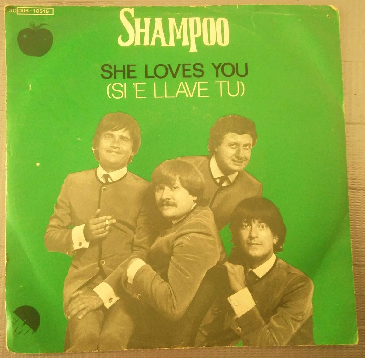 Shampoo she loves you si e llave tu help peppe 45 giri beatles vg ex 