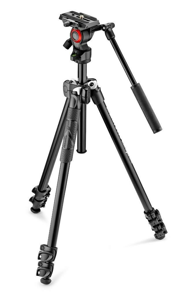 Manfrotto treppiedi mk290lta3 v cavalletto con testa fluida video mvh400ah 