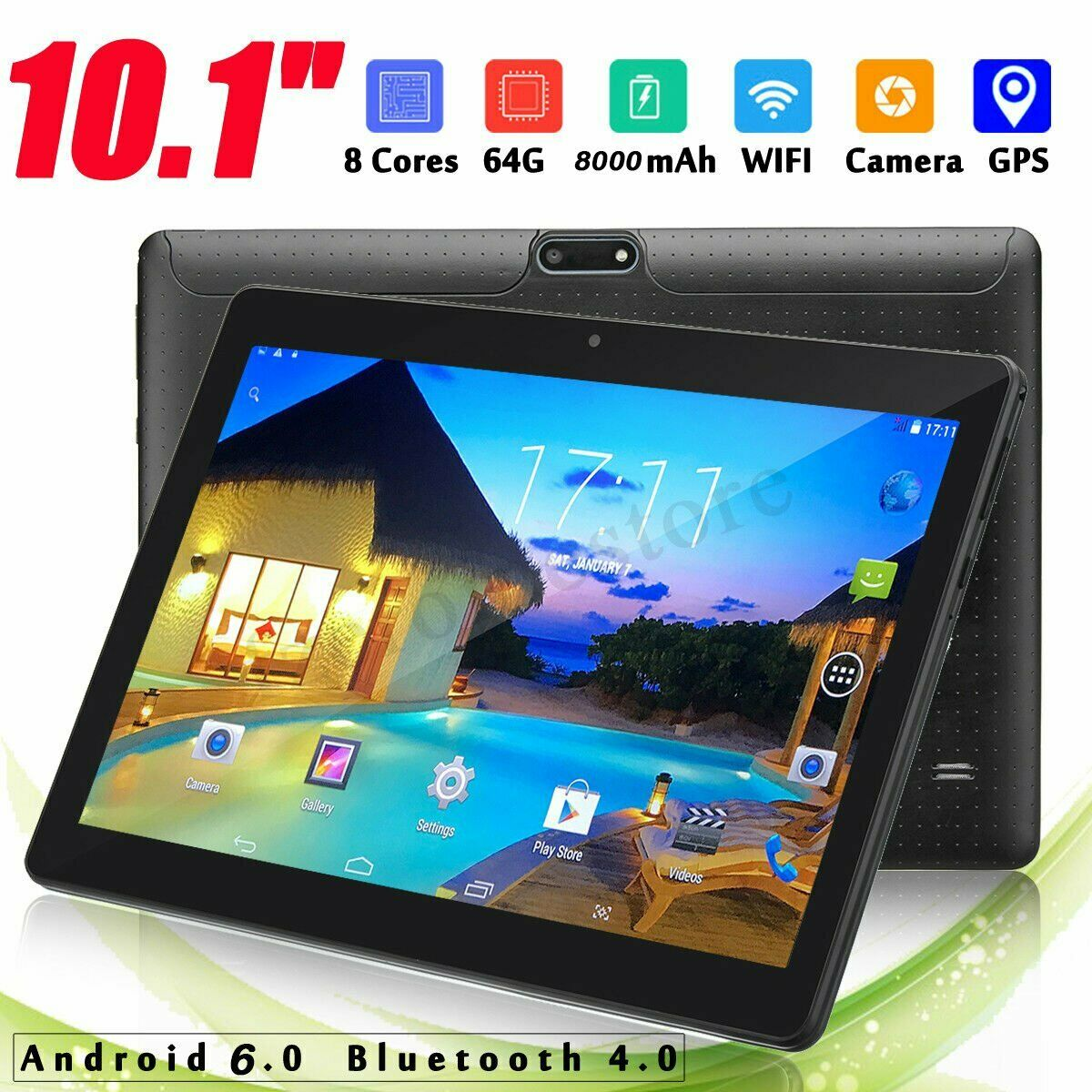 Tablet pc 10 1 pollici android 6 0 4gb 64gb bluetooth4 0 octa 8 core nuovo 