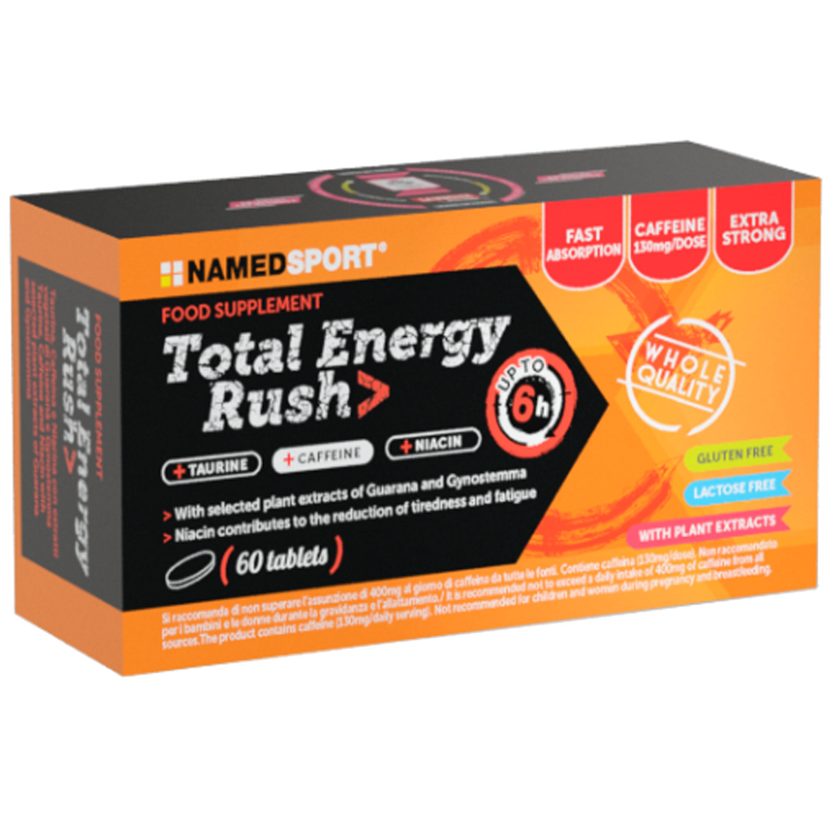 Named sport total energy rush 60 cpr energetico con guaran caffeina e tautina 