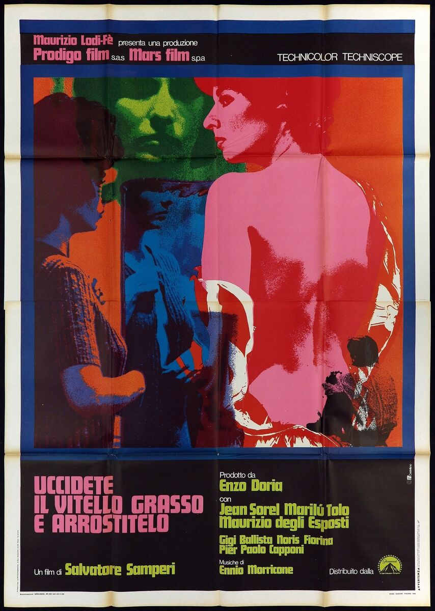 Uccidete il vitello grasso e arrostitelo manifesto cinema 1970 movie poster 4f 