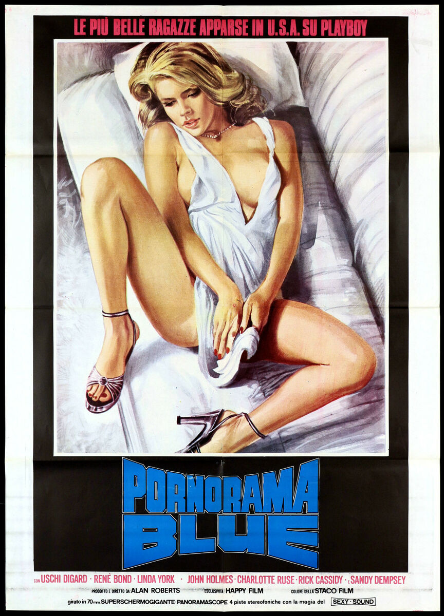 Pornorama blue manifesto cinema film erotico playboy girls 1974 movie poster 2f 
