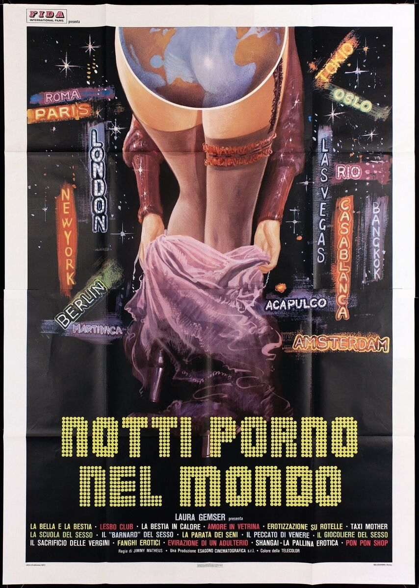 Notti porno nel mondo manifesto laura gemser joe d amato 1977 movie poster 4f 