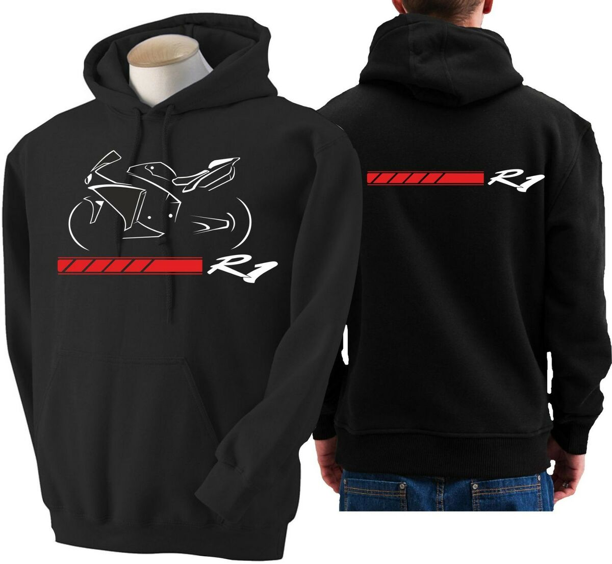 Felpa moto yamaha r1 hoodie sweatshirt bike hoody hooded sweater 