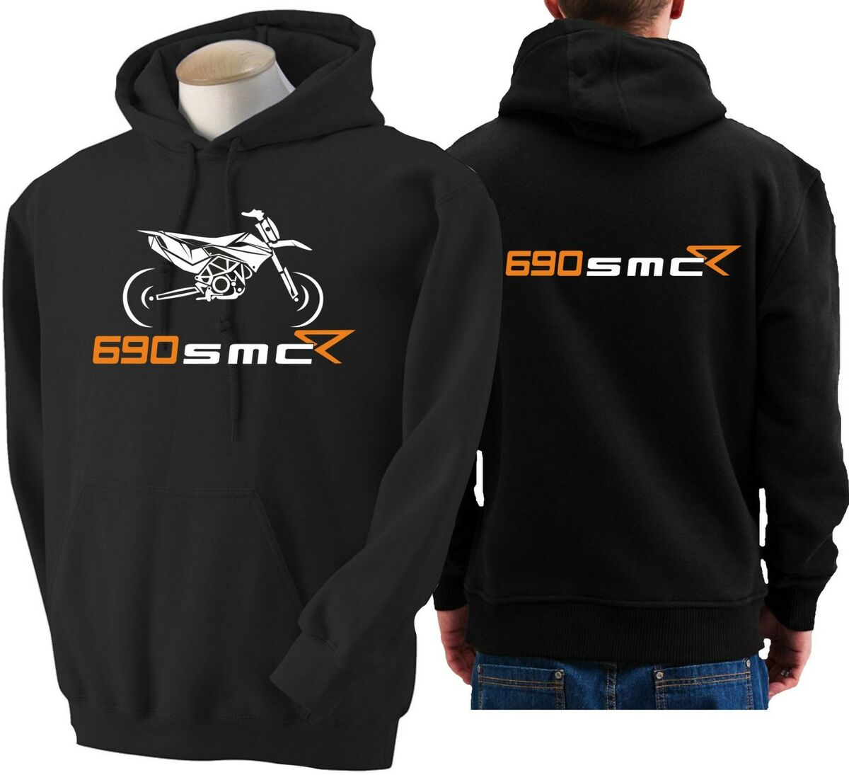 Felpa per moto ktm 690 smc r hoodie sweatshirt bike smc r hoody hooded sweater 