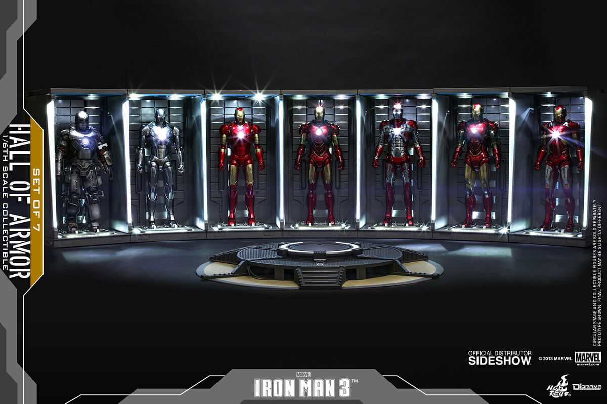 Ds001c hall of armor set of 7 949 hot toys 1 6 acconto prenotazione 