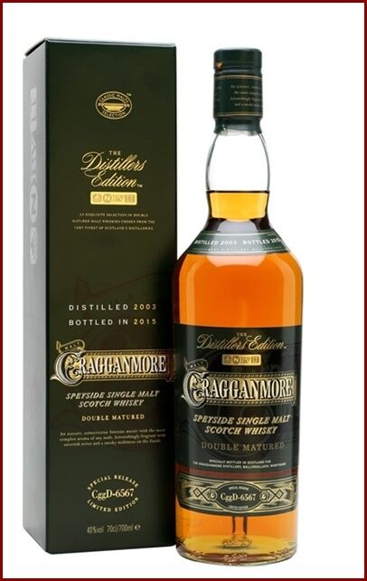 Cragganmore distillers edition 2003 bottled 2015 double matured scotch whisky 