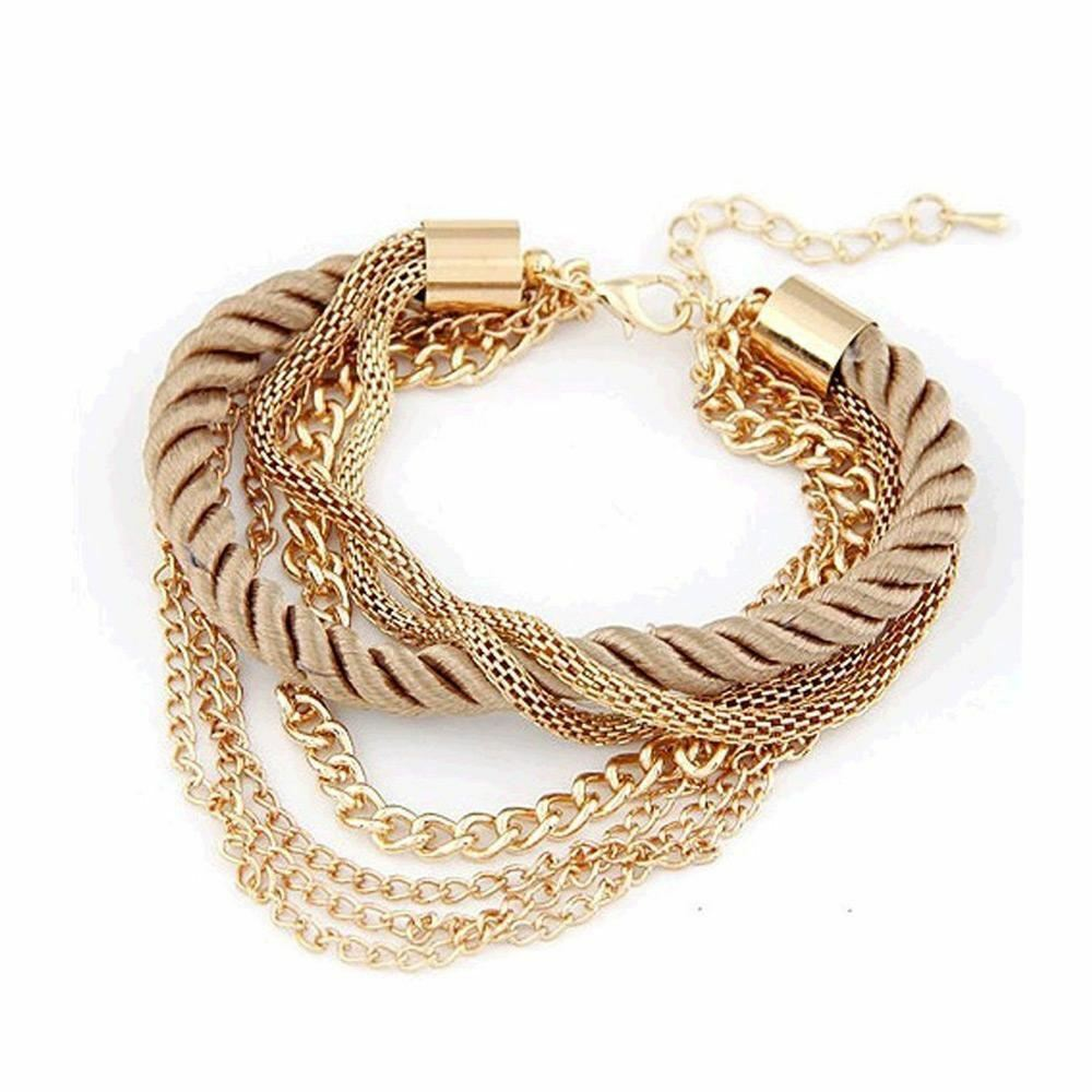 Fashion rope chain bracelet decoration for girl of six colors hot selling bracel 