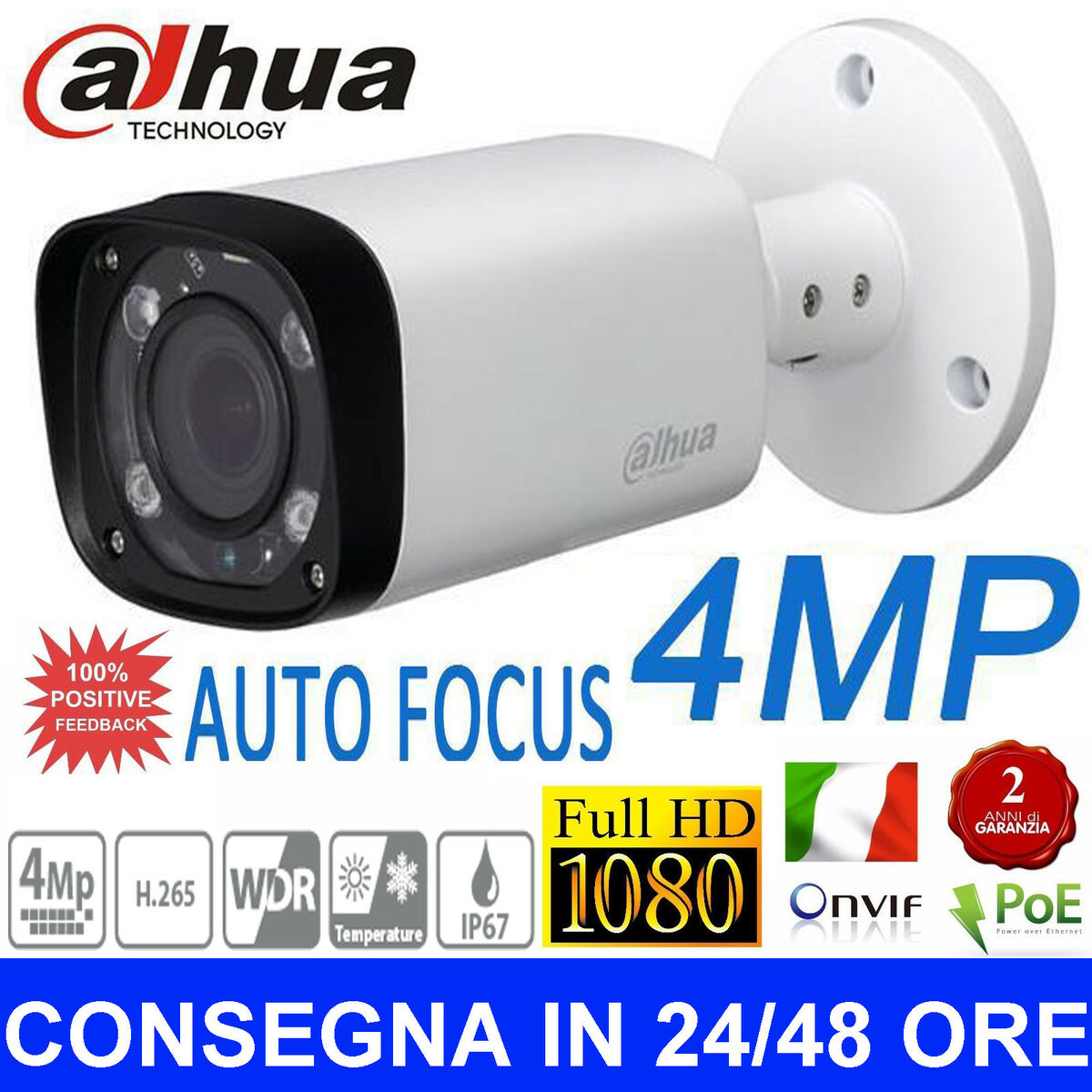 Ipc hfw2421r zs ire6 dahua telecamera ip 4 0mp bullet motorzoom 2 7 12mm ir60mt 