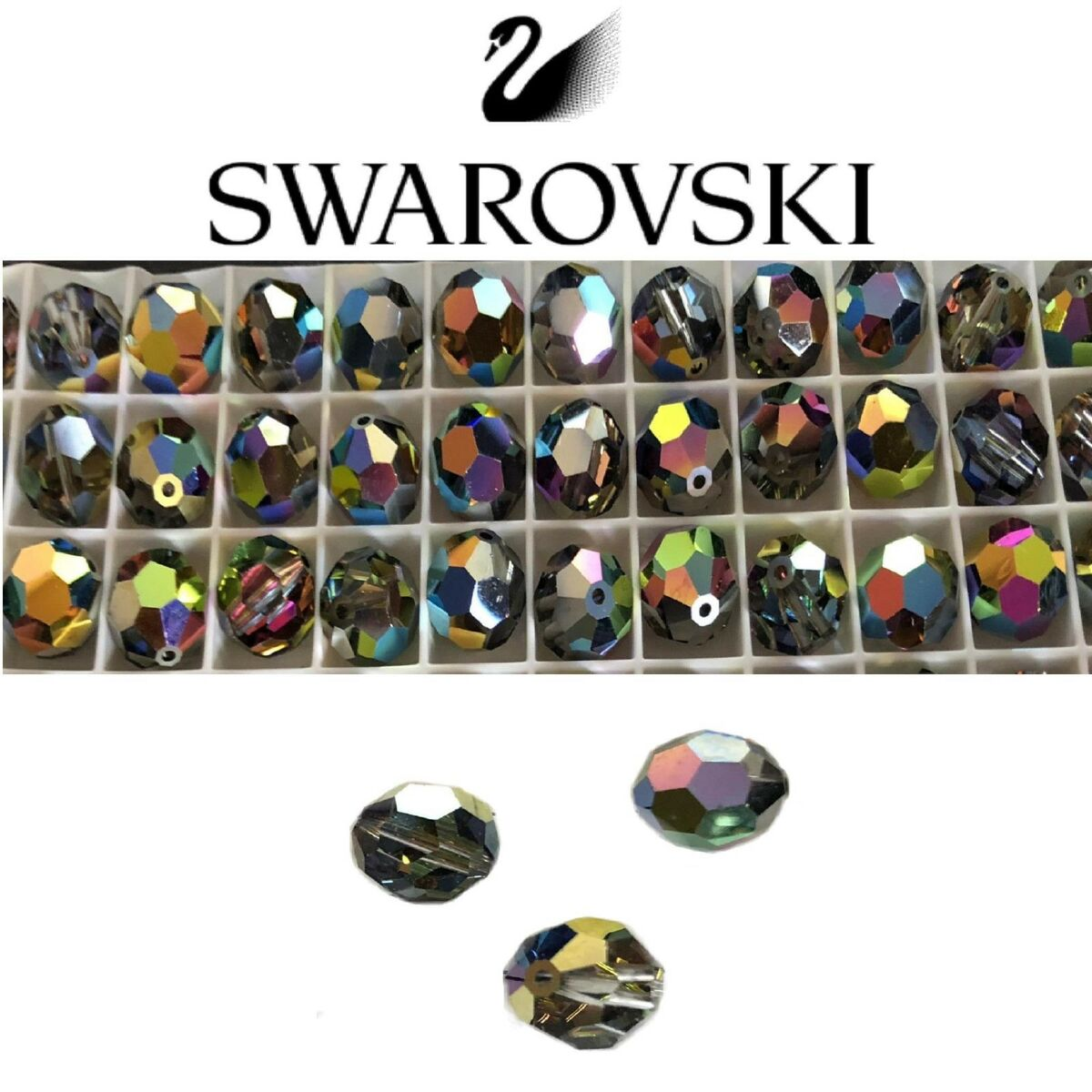 Lotto perline cristallo swarovski sfera vitral medium sfaccettata 6 8 10mm 