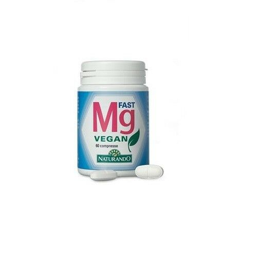 Mg fast vegan 60 compresse naturando integratore a base magnesio in compresse 