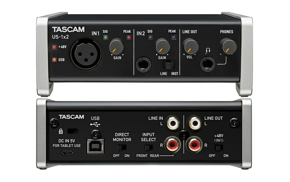 Tascam us 1x2 scheda audio usb 1 in 2 out 