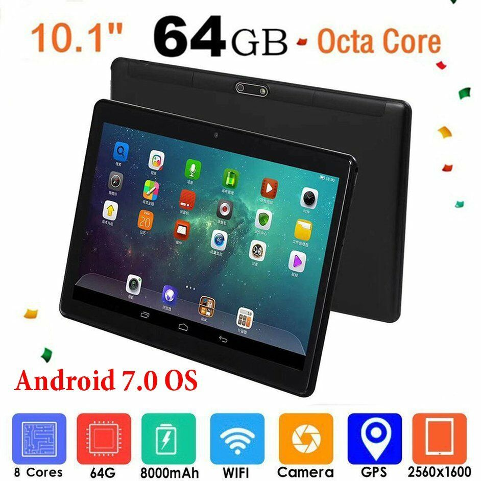 10 1 tablet pc android 7 0 4 gb 64 gb octa core wifi gps phone pad phablet 