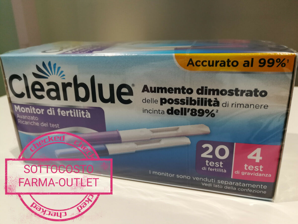 Clearblue advanced 20 4 stick test di fertilita primo prezzo stock sottocosto 
