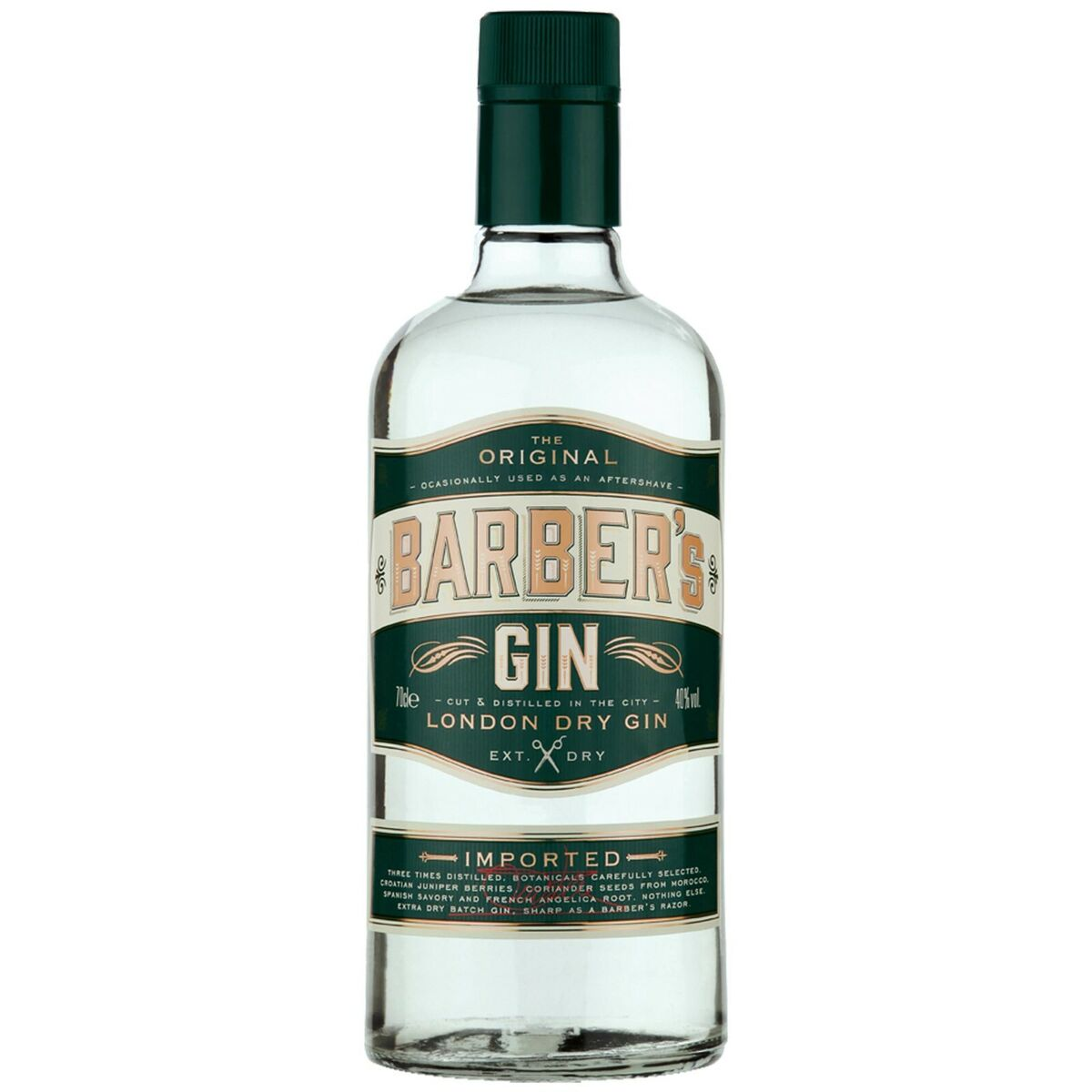Barber s gin the original london dry gin 40 distilled 3 times use as aftershave Prezzo: € 31,50