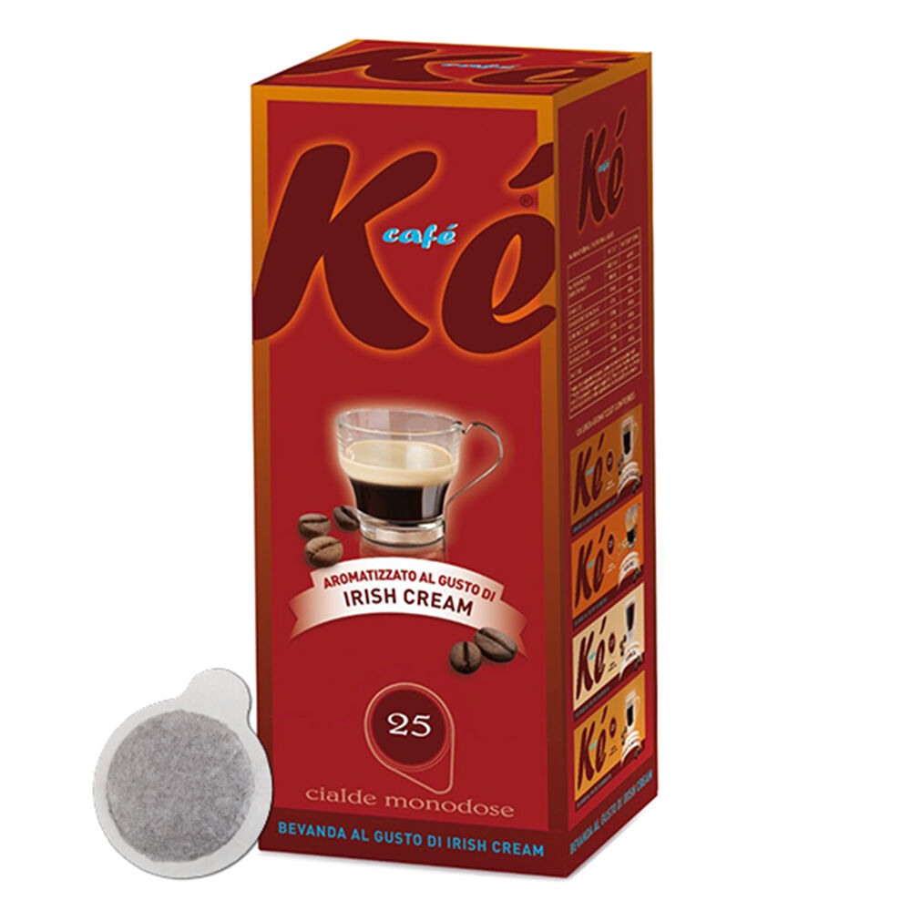 25 cialde caffe ke cafe molinari miscela irish cream ese 44 mm 