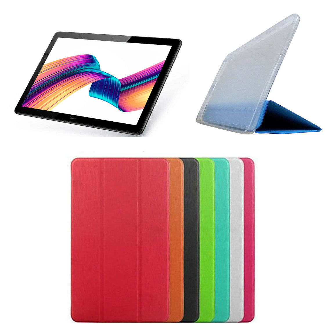 Smart cover slim per huawei mediapad t5 10 10 1 pollici custodia tablet case 