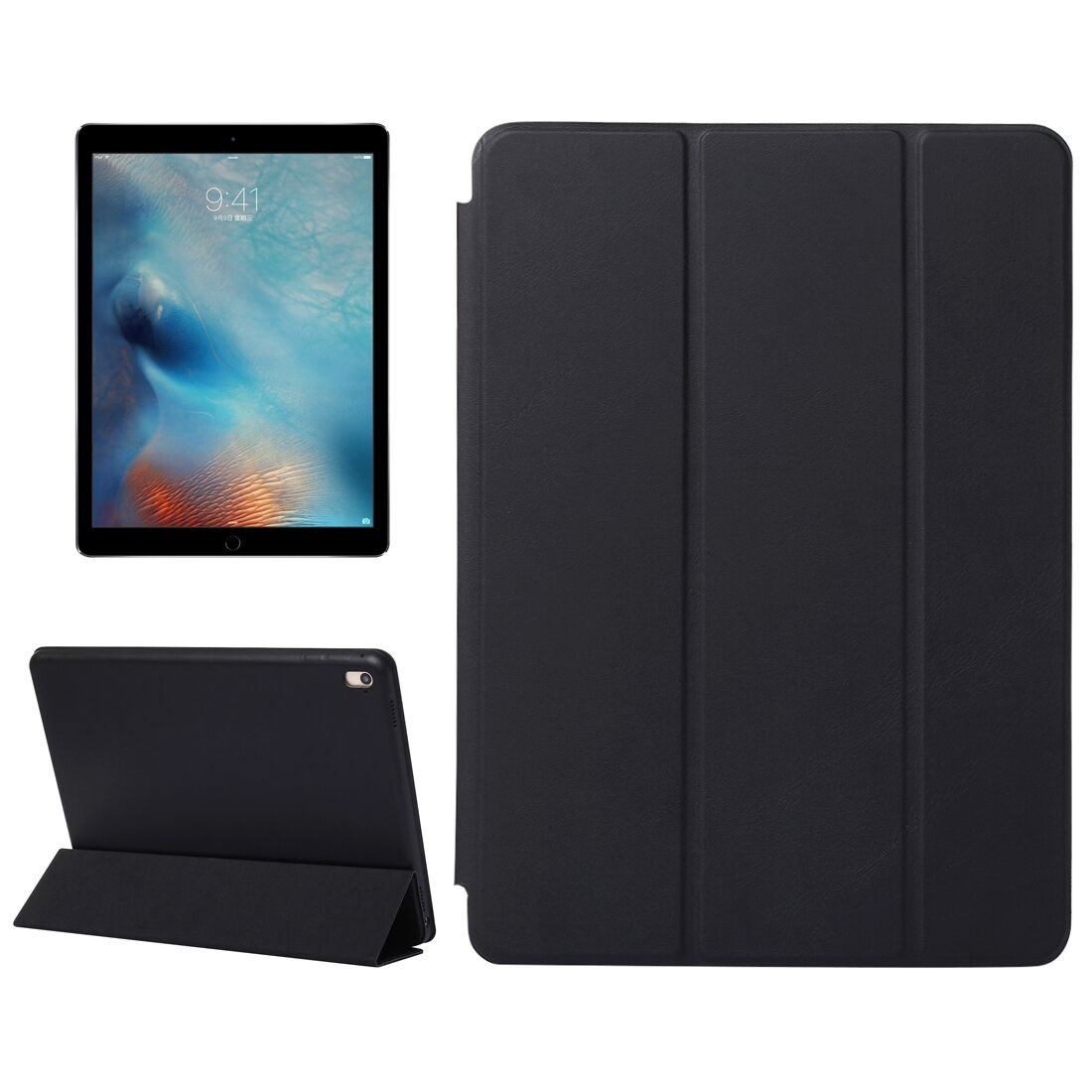 Custodia integrale per apple ipad air 2 9 7 nera smart cover supporto 