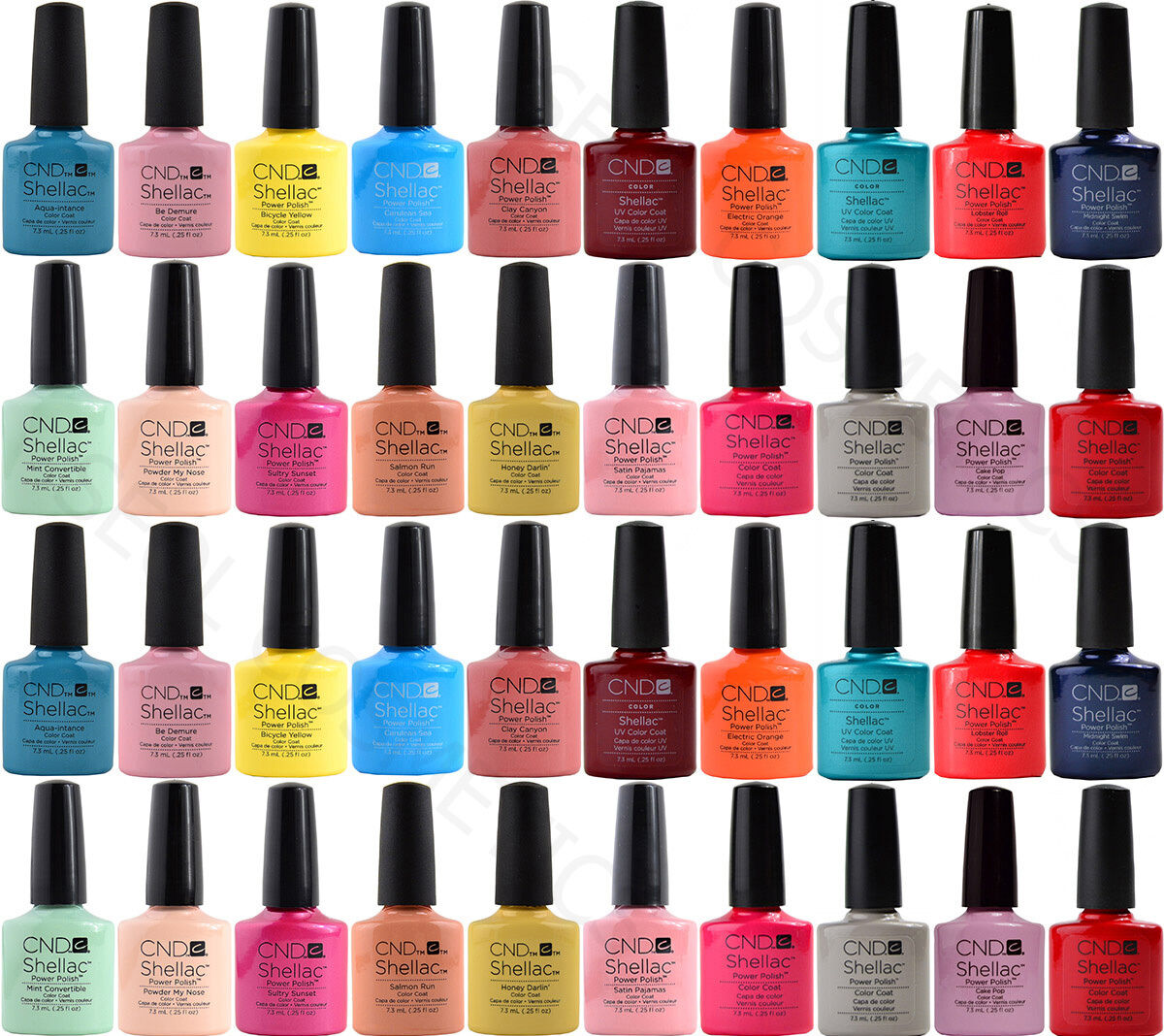 Cnd shellac uv led smalti tutti i colori disponibili top base 7 3ml 12 5ml 15ml 