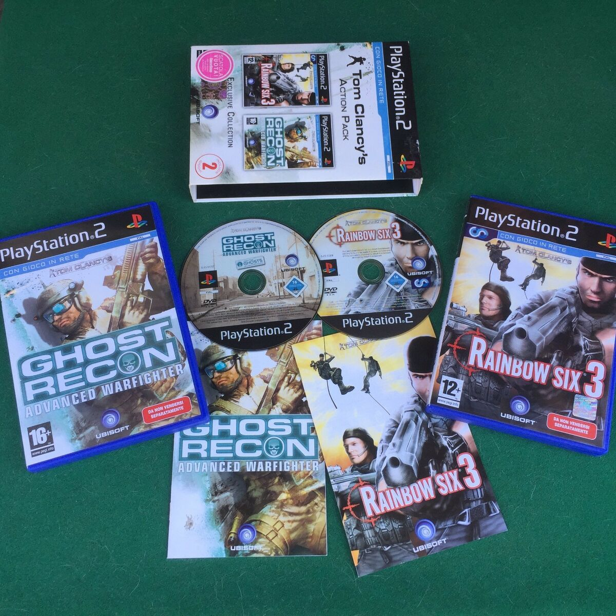 ps2 tom clancy s action pack 2 giochi ita rainbow six 3 ghost playstation Prezzo: € 19,90