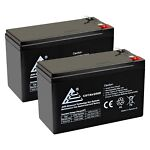 PACK OF 2 12 VOLT 7 AH BATTERY FOR MIGHTY MULE NP7 12 12V 7.0Ah