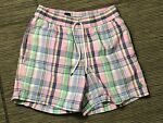 Polo Ralph Lauren Mens Small Swimming Trunks Swim Shorts Plaid Green Pony
