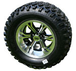 12quot; Transformer Black Machined Wheels and 23quot; A T Golf Cart Tires Set of 4