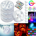 4x 16Colors Underwater Swimming Pool Light RGB LED for Pond Party Garden