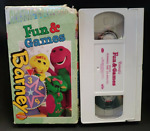 Barney's Fun amp; Games Classic Collection VHS Video Tape