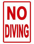 NO DIVING Sign SWIMMING POOL SIGN NO RUST ALUMINUM WEATHERPROOF SIGN full color
