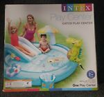 New INTEX Gator Play Center Kids Inflatable Swimming Pool Water Slide Sprayer