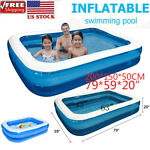Inflatable Swimming Pool Family Kids Adult Paddling Pool Outdoor Ground Pool 79