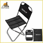 Small Folding Outdoor Fishing Chair With Back Rest Seat Stool Camping Hiking