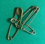 4 VNTG LARGE METAL SWIMMING BASKET SAFETY PINS 3 are 3 3 4quot; amp; one is 4 3 4quot;