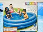 Intex 58446EP Crystal Blue Kids Outdoor Inflatable 66quot; x 15quot;Swimming Pool Blue