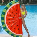 PVC Swimming Floats Watermelon Inflatable Swim Floating Gas Bed Adult Water Play