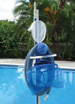 The Swimming Pool Caddy Holds Leaf Rakes Hoses Poles & Brushes