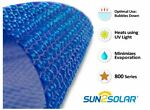 Sun2Solar 24' Round Blue Swimming Pool Solar Heater Blanket Cover - 800 Series