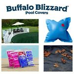 Buffalo Blizzard SUPREME Swimming Pool Winter Cover & Leaf Net w Package Kit