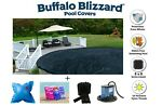 Buffalo Blizzard DELUXE Swimming Pool Winter Cover w Pillow Seal Package Kit