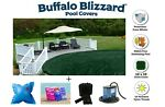 Buffalo Blizzard SUPREME Swimming Pool Winter Cover w Pillow Seal Package Kit
